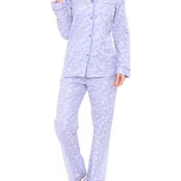 Purple Paisley Flannel Pajama Set