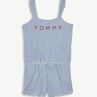 TOMMY HILFIGER - Pinstripe cotton playsuit 4-16 years | Selfridges.com