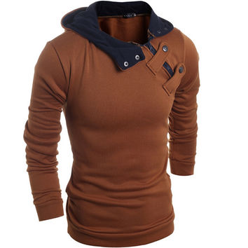 2016 Hot new fashion men Slim casual men's sweater Sweater jacket winter coat sweater 4 colors