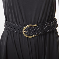 Wrapped Up Black Woven Belt