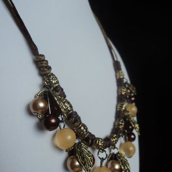 Stone Bead Necklace Fall by Lunarpearl on Etsy