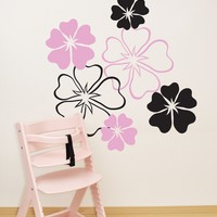 Floral Flower Patterns Wall Decal Decor. #387