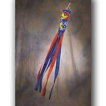 NCAA Kansas University KU Jayhawks 60 Windsock