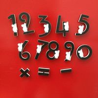 Moomin numbers wooden magnets