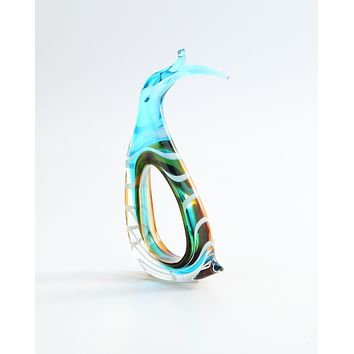 Abstract fish Glass Sculpture