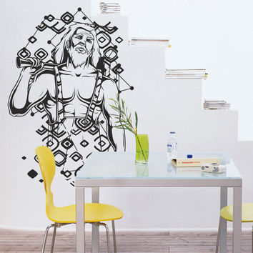 I199 Wall Decal Vinyl Sticker Art Decor Design Male Greek constellation horoscope star muscles Living Room Bedroom