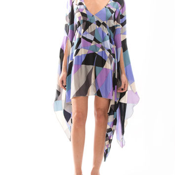 Emilio Pucci Purple Silk Dress