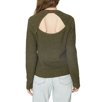 Open Back Sweater, Prosperity Green