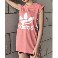 ADIDAS Side Print 8 color vest lovers Pink
