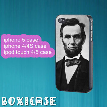 Lincoln--iphone 4 case,iphone 5 case,ipod touch 4 case,ipod touch 5 case,in plastic,silicone,cute iphone 5 case,pretty iphone 5 case.