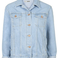 MOTO Oversized Western Jacket - Bleach Stone