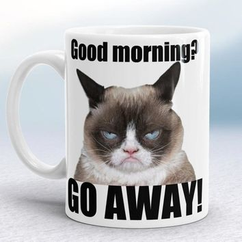 Grumpy cat mugs coffee mug ceramic white mugs printed novelty porcelain beer tea cups home decal kitchen drinkware cat lady cup