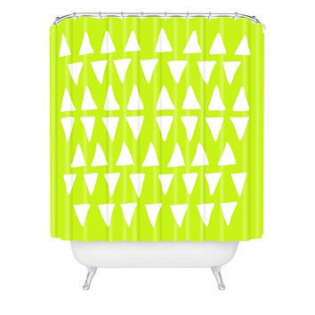 Leah Flores Pineapple Dreams Shower Curtain