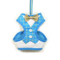 EasyGO Soft Step-In Dog Harness - Bowtie Blue