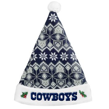 Dallas Cowboys Knit Santa Hat - 2015