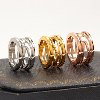 New version titanium steel hollow spring Rings for Women men  wedding Engagement  ring fine Jewelry never fade