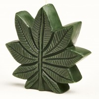 Cannabis Leaf Candle