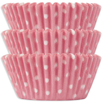 Light Pink Polka Dot Baking Cups