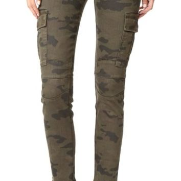 Colby Ankle Moto Skinny Cargo Jeans