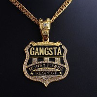 Shiny New Arrival Gift Stylish Jewelry Music Hip Hop Necklace [10390924487]