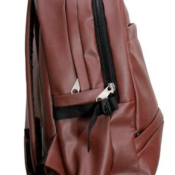 School/College Office PU Leather Backpack