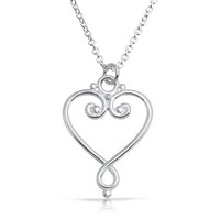 Bling Jewelry Twisted Love Pendant