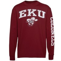 Eastern Kentucky Colonels New Agenda Distressed Arch & Logo Long Sleeve T-Shirt - Maroon