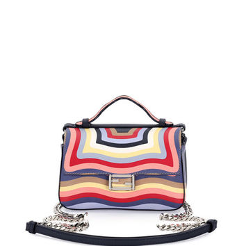 Fendi Double Baguette Micro Hypnotic Shoulder Bag, Multi