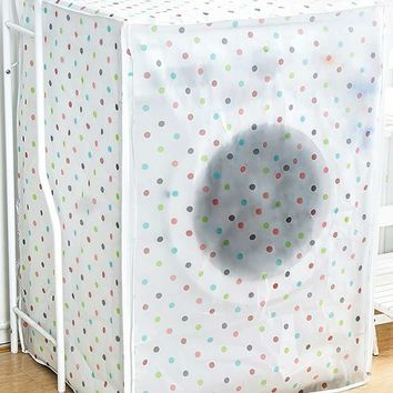 Dot Print Washing Machine Dust Cover