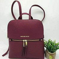 Perfect Michael Kors Women Leather Bookbag Shoulder Bag Handbag Backpack