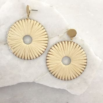 Bernice Cream & Gold Earrings