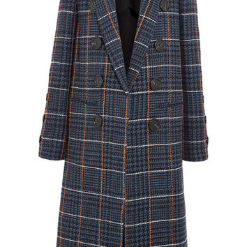 Victoria Beckham - Embroidered houndstooth wool coat
