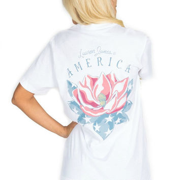 Lauren James American Magnolia Tee