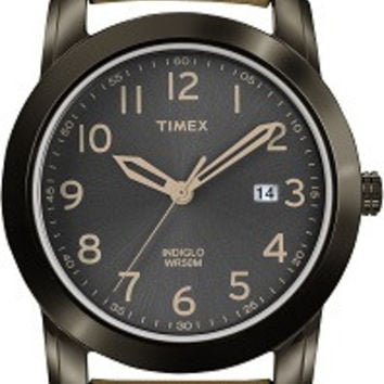 Timex Mens Elevated Classics Brown Leather Strap Watch