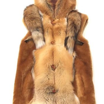 Kashani Honey Mouton Fox Shearling Vest