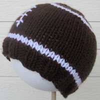 Football Hat - hand kit, babies, toddlers, and kids - with or without stripes