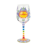 Lolita Yoga Girl Wine Glass