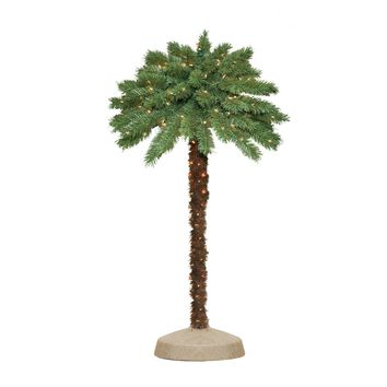 4 Ft. Green Pre-Lit Faux Christmas Palm Tree with 105 Clear Lights