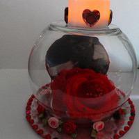 Valentine's Day Centerpiece..Baby Kitten Centerpiece..Valentines' Day Tealight Table Topper