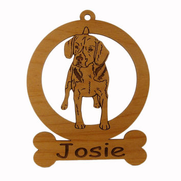 Beagle (Standing) Ornament 081519 Personalized With Your Dog's Name