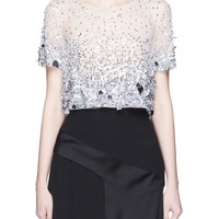 Oscar de la Renta | Paillette cropped tulle blouse | Women | Lane Crawford - Shop Designer Brands Online