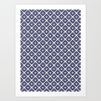 Shibori Diamonds Art Print by lydia