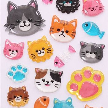 hard cat paw 3D stickers by Mind Wave from Japan - Animal Stickers - Sticker - Stationery