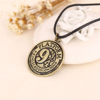 Hot Movie Harry Potter Hogwarts 9 3/4 Unisex Silver Necklaces Pendants Fashion-in Pendant Necklaces from Jewelry & Accessories on Aliexpress.com | Alibaba Group