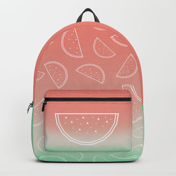Watermelon Backpack by edrawings38
