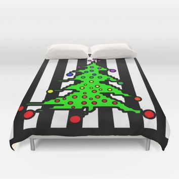 Christmas Tree | I Love Christmas  Duvet Cover by Azima