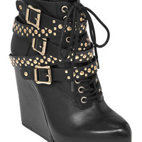 BCBGeneration Larissa Platform Wedge Booties