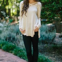 Neutral Zone Beige Sweater