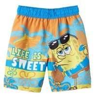 SpongeBob SquarePants ''Life is Sweet'' Swim Trunks - Toddler Boy, Size: