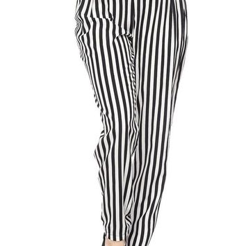 Upbeat Stripped Woven Bottoms